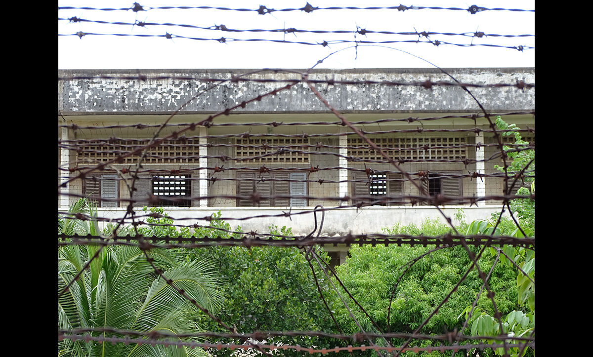 The former S-21 Tuol Sleng prison, pictured here, is now a museum of the genocide.