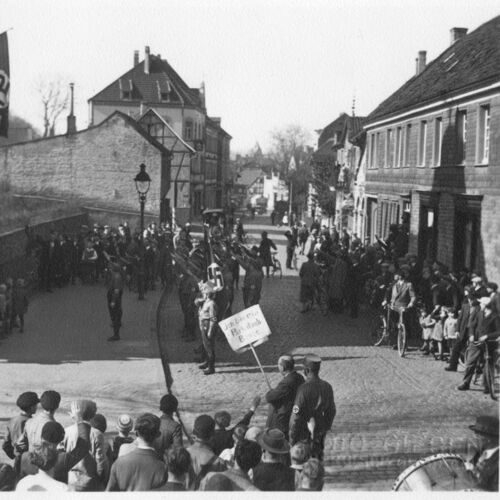 Photographs showing the SA's humiliation of Peter Walterscheidt in 1933.