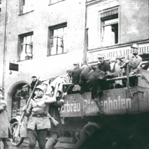 Nazi forces during the Beer Hall Putsch on 9 November 1923.